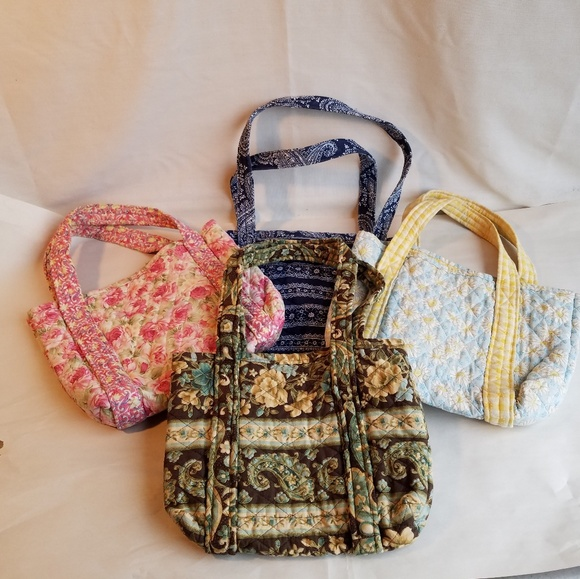 Lot of 4 Cloth Quilted Purses